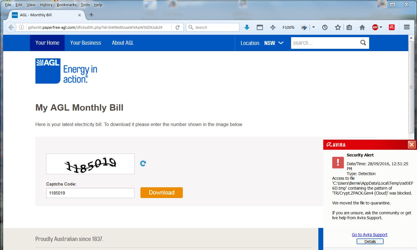 how to change billing to email agl